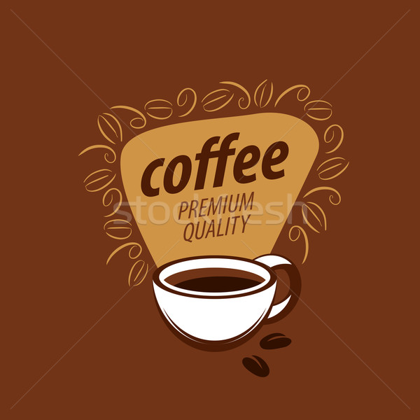 vector logo for coffee Stock photo © butenkow