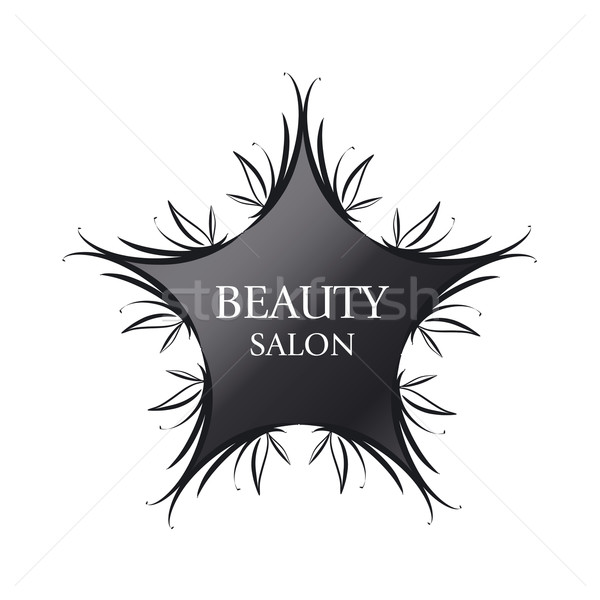 vector logo black star for fashion Stock photo © butenkow