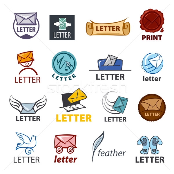 biggest collection of vector logo design delivery of letters Stock photo © butenkow