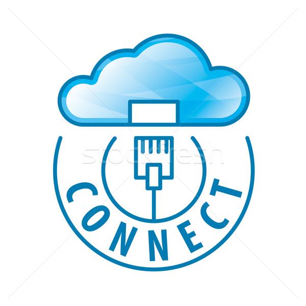 Foto stock: Vector · logo · nube · conexión · red · negocios