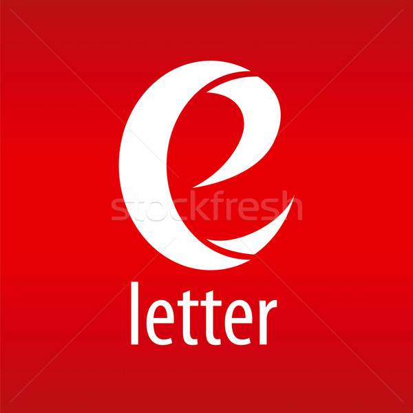vector logo letter E on a red background Stock photo © butenkow