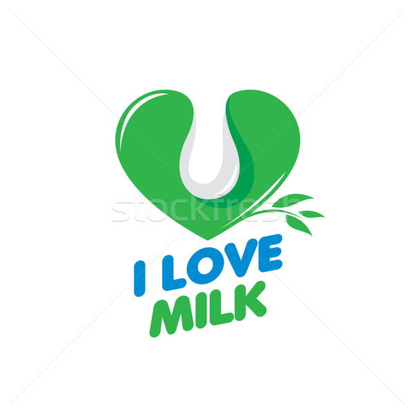 Vettore latte logo universale grafica naturale Foto d'archivio © butenkow