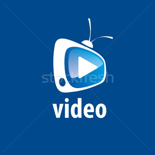 Vecteur logo tv conception de logo modèle signe Photo stock © butenkow