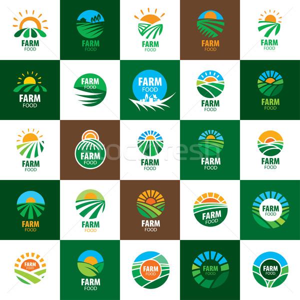 Stok fotoğraf: Logo · çiftlik · gıda · şablon · dizayn · ikon