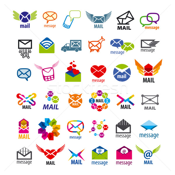 collection of vector logos mail messages  Stock photo © butenkow