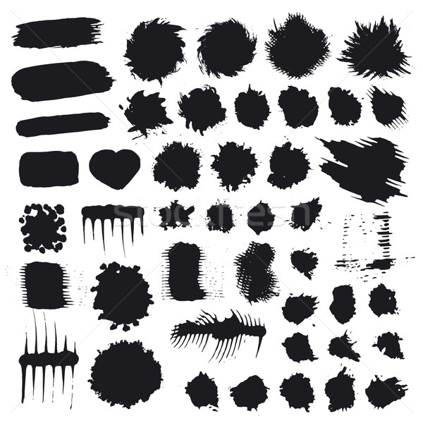 biggest collection of vector splashes and drops Stock photo © butenkow