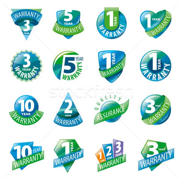 Büyük ayarlamak vektör logolar iş sanat Stok fotoğraf © butenkow