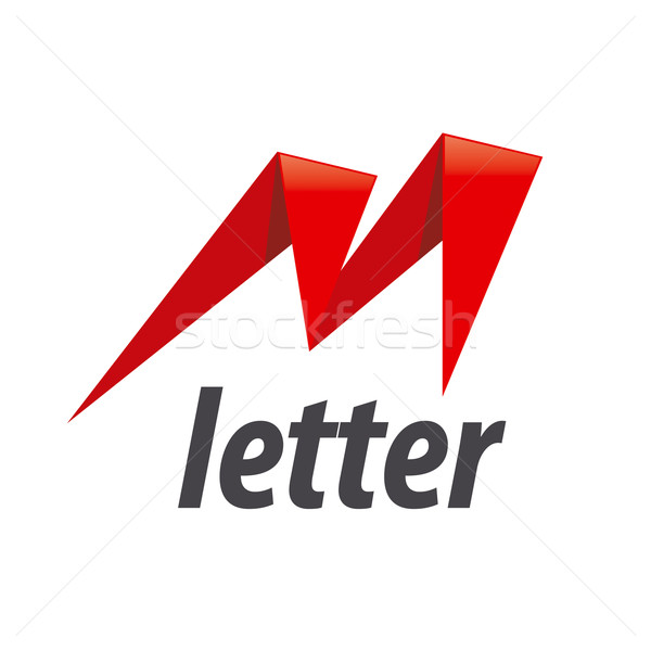 Vecteur logo lettre m forme foudre mode Photo stock © butenkow