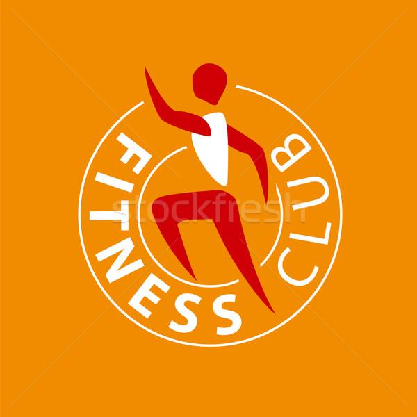 Vektor logo férfi fut fitnessz klub Stock fotó © butenkow