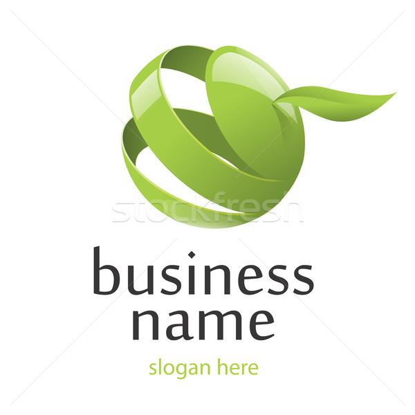 vector logo green apple Stock photo © butenkow