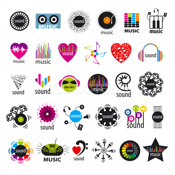 biggest collection of vector logos music and sounds  Stock photo © butenkow