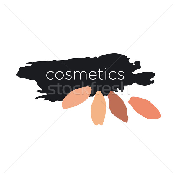 Abstract vector logo for cosmetics and makeup Stock photo © butenkow