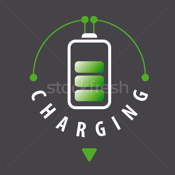 vector logo battery is recharged via a cable Stock photo © butenkow