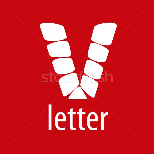 ベクトル ロゴ 手紙 抽象的な 芸術 にログイン ストックフォト © butenkow