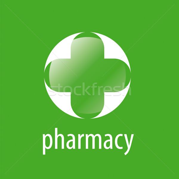 Round vector logo cross for pharmacy Stock photo © butenkow