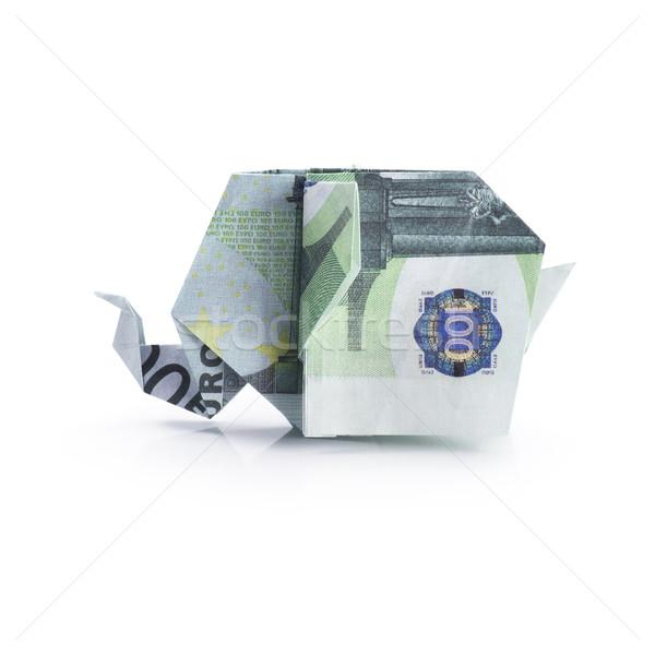 оригами слон деньги бумаги аннотация Сток-фото © butenkow
