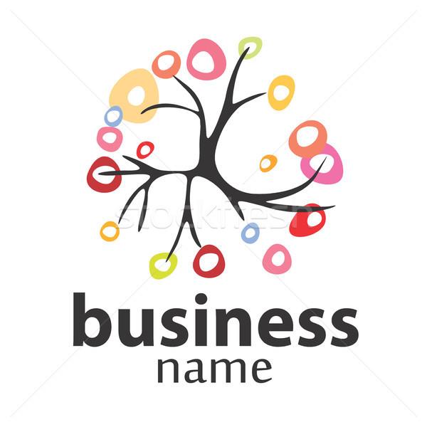 Arbre vecteur logo affaires environnement bois Photo stock © butenkow