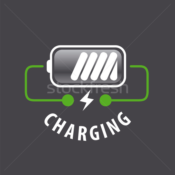 vector logo battery charger and lightning Stock photo © butenkow