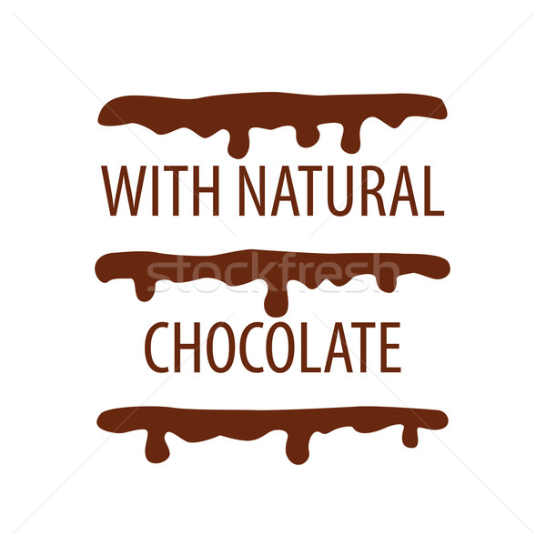 vector logo cake with natural chocolate Stock photo © butenkow