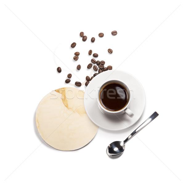 coffee attributes on a white background Stock photo © butenkow