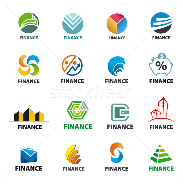 large collection of of vector logos Finance Stock photo © butenkow