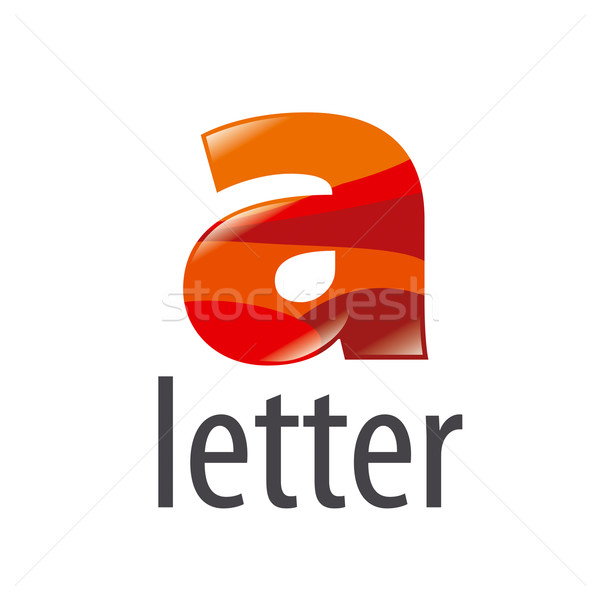 vector logo colored letter A with highlights Stock photo © butenkow