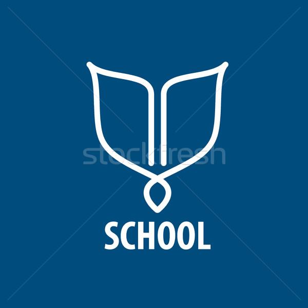 Vector logo escuela resumen libros ilustración Foto stock © butenkow