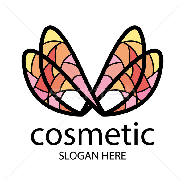 logo in the form of multi-colored wings for beauty salon Stock photo © butenkow