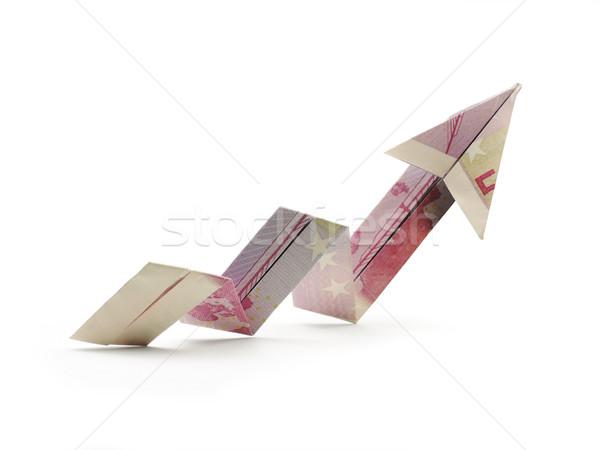 Origami flèche cinquième cent affaires Photo stock © butenkow