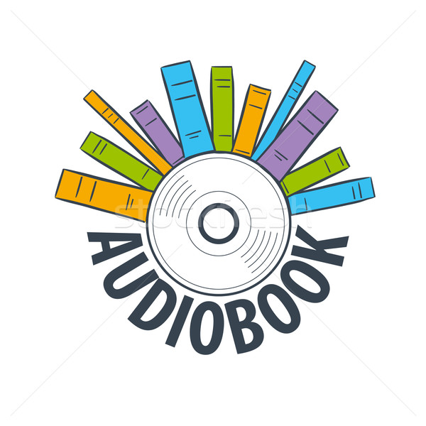 vector logo are many books on cd Stock photo © butenkow