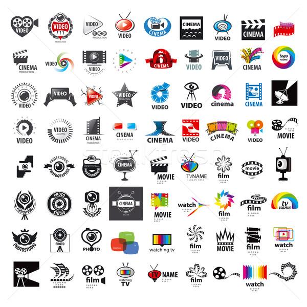 Vecteur logos photo vidéo Photo stock © butenkow