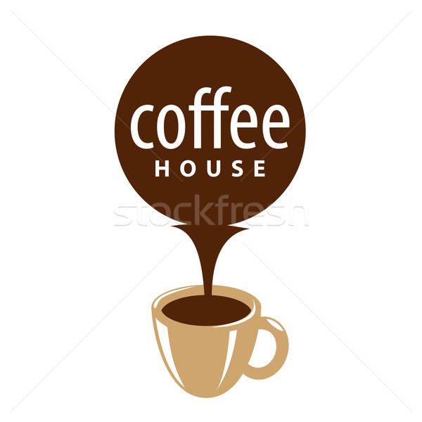 Vektör logo fincan kahve dere dizayn Stok fotoğraf © butenkow