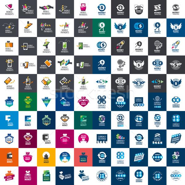 Ayarlamak ödeme logolar büyük şablonları tasarımlar Stok fotoğraf © butenkow
