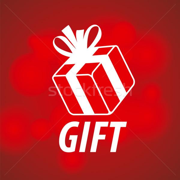 Vetor logotipo caixa vermelho aniversário compras Foto stock © butenkow