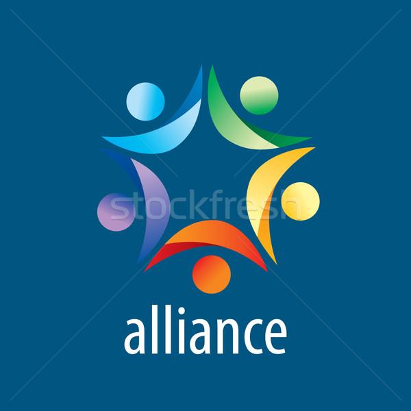 Human Alliance logo Stock photo © butenkow