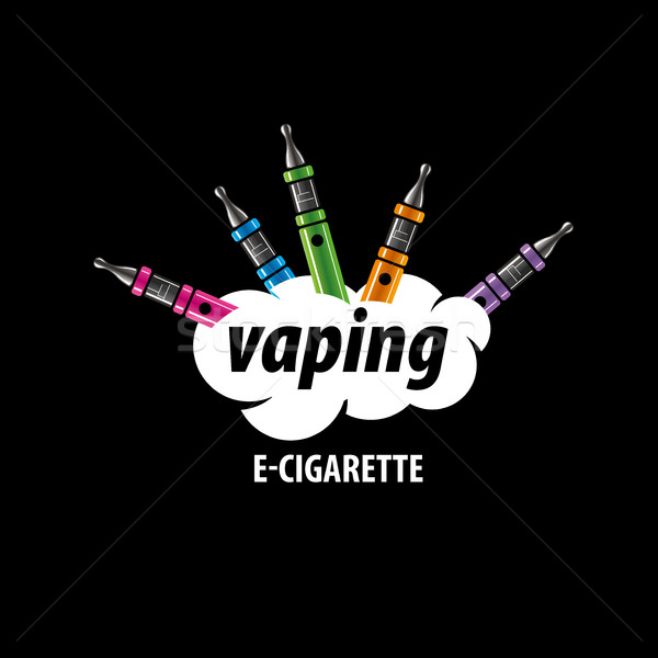 vector logo electronic cigarette Stock photo © butenkow