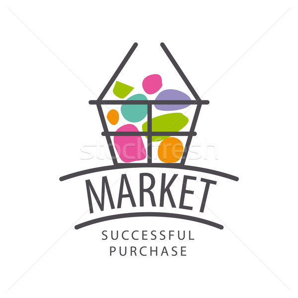 Vector recycle logo with the product for the market Stock photo © butenkow