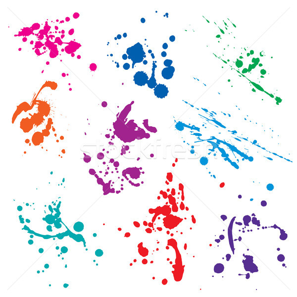 vector set of blots Stock photo © butenkow