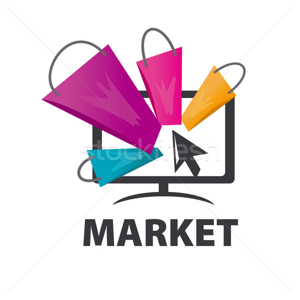 Stock photo: vector logo purchases of goods over the internet