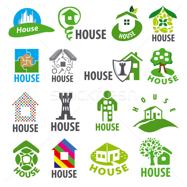biggest collection of vector logos homes Stock photo © butenkow