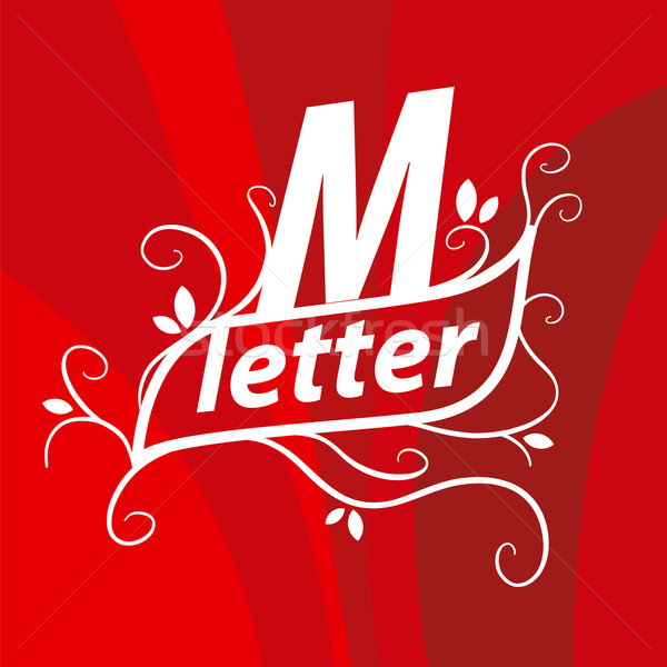 vector logo the letter M with floral patterns Stock photo © butenkow