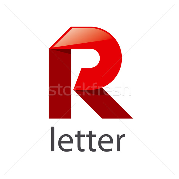 vector logo red ribbons in the shape of the letter R Stock photo © butenkow