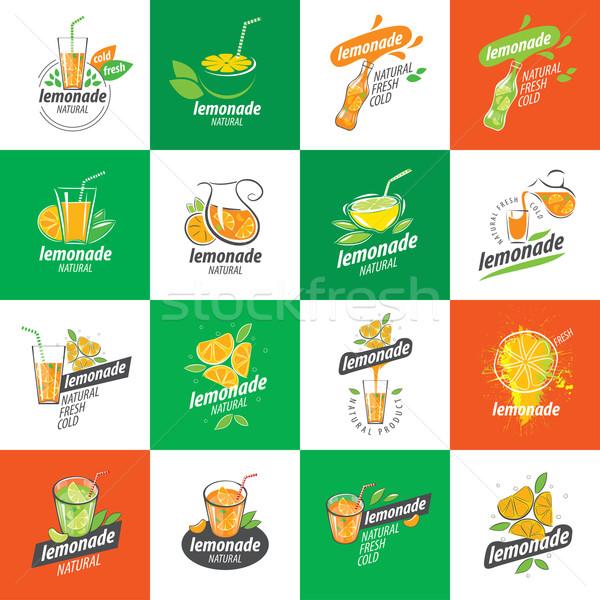 Logotipo limonada vetor ícone bebidas água Foto stock © butenkow