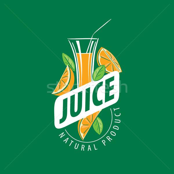 Logo friss dzsúz vektor ikon természetes Stock fotó © butenkow