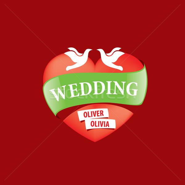 вектора логотип свадьба аннотация шаблон иллюстрация Сток-фото © butenkow