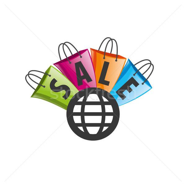 Vecteur signe modèle résumé icône magasin Photo stock © butenkow