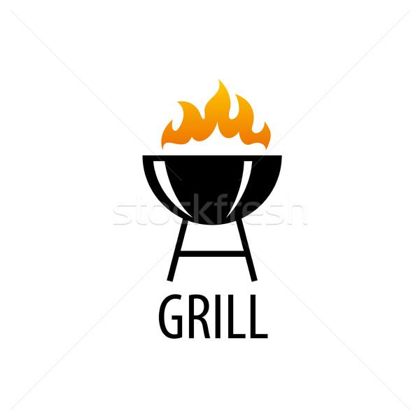 Barbekü parti logo logo tasarımı şablon gıda Stok fotoğraf © butenkow