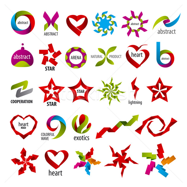 biggest collection of vector logos abstraction Stock photo © butenkow