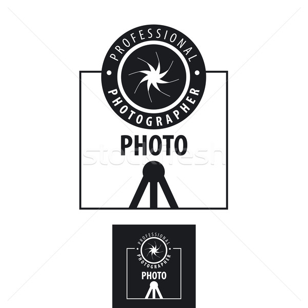 Vecteur logo photographe lentille ordinateur Photo stock © butenkow