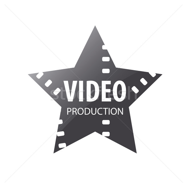 Vector logo video vallende ster abstract film Stockfoto © butenkow